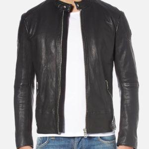 New Hugo Boss Leather Jacket